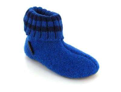 HAFLINGER® Kids Slipper Boots | Everest Pablo, Blue
