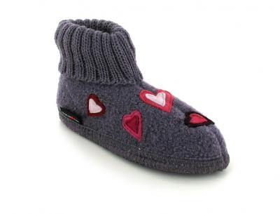 HAFLINGER Slipper Boot | Amanda, Aubergine