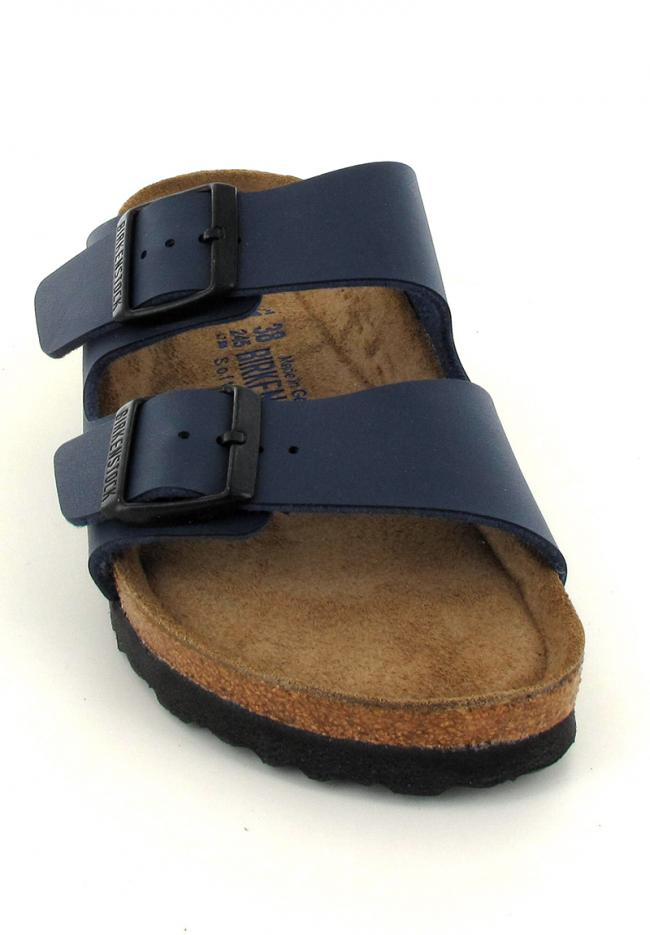 BIRKENSTOCK® Faux Leather Sandals | Arizona, blue | Slim Edition