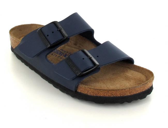 e8768c7b109df BIRKENSTOCK® Faux Leather Sandals | Arizona, blue | Slim Edition
