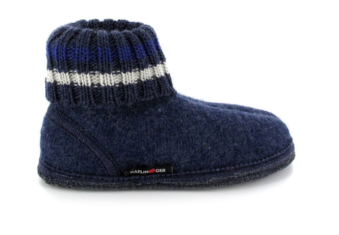 63887928612 ... Denim HAFLINGER® Boiled Wool Slipper Boot