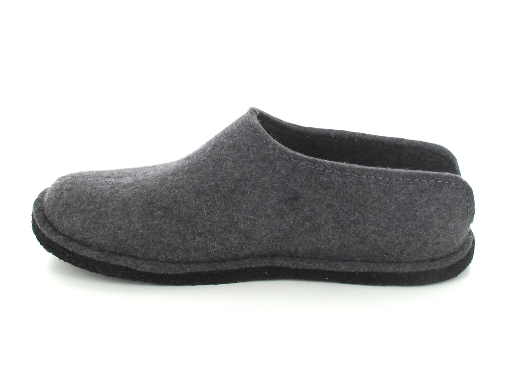 35d2f549809 ... Anthracite HAFLINGER® Boiled Wool Softsole Slippers