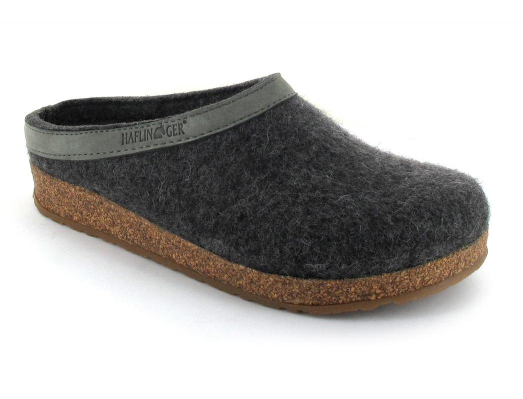 HAFLINGER Grizzly Torben anthracite grey Clog Slipper Germany New