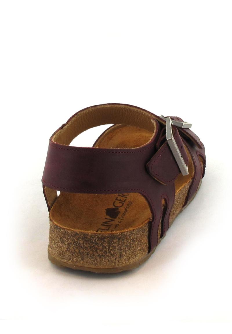Haflinger Leather Sandal Bio Rebecca Bordeaux Free